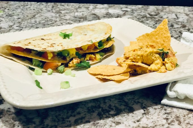 Vegan Crunchy Quesadillas